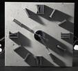 Zegar na płycie betonowej 60 x60