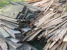 Drewno opałowe: deski, łaty, belki, szczeble - niemalowane.