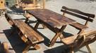 Komplet mebli ogrodowych stół + ławki