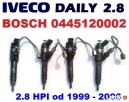 Wtryskiwacz wtrysk paliwa BOSCH 0445120002 IVECO DAILY 2.8 - 1