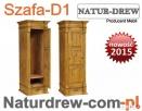 Drewniana Szafa 1-drzwiowa od PRODUCENTA - Meble z Drewna Katowice