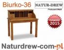Biurko 36 z Drewna Litego od PRODUCENTA - meble z Drewna Kat Katowice