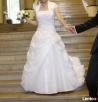 Sprzedam śliczną białą suknię ślubną z organtyny rozm