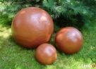 Sprzedam kule ogrodowe, ceramiczne, mrozoodporne 40,28,16 cm - 3