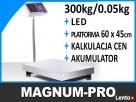 Waga platformowa magazynowa 300 kg cyfrowa 60x45 cm Poczesna