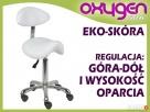 Fotel krzesło siodłowe z oparciem białe obrotowe Poczesna