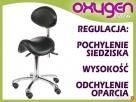 Krzesło siodłowe regulowane obrotowe kosmetyczne Poczesna