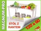 Stół gastronomiczny z rantem 120 cm x 60cm Poczesna