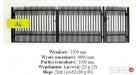 Przęsło ogrodzeniowe 125x200 cm 150x200 cm P3 - 4