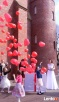 Balony z helem, balony z pudła niespodzianki na Ślub