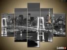 Nowoczesne Obrazy Obraz Tryptyki 150x105 cm Kwiaty Miasto