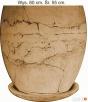Ceramiczna donica ogrodowa 50 x 40 cm. mrozoodporna Jelenia Góra