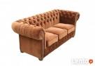 Sofa Chesterfield Classic - plusz, materiał, tkanina - 2