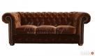 Sofa Chesterfield Classic - plusz, materiał, tkanina - 1