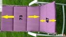 Poduszka na krzesło ogrodowe 120x46c4cm nowa wrzosowa Gaszowice