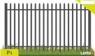 Ogrodzenia,przęsło ogrodzeniowe 120x200 cm P 1