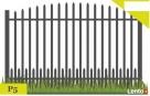 Przęsło ogrodzeniowe, płot, klasyczny wzór P5 Gorlice