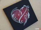 Serce ręcznie rzeźbione w blasze Oryginalny prezent na urodz - 5