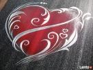 Serce ręcznie rzeźbione w blasze Oryginalny prezent na urodz - 1