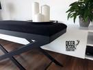 Siedzisko ławka do przedpokoju tapicerowana, ławeczka stal - 4