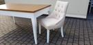 Krzesło pikowane modne glamour chesterfield Producent nowe - 1