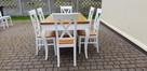 Stół glamour biały/dąb 160x90/240 rozkładany nowy PRODUCENT - 2