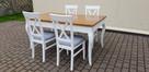 Zestaw prowansalski-stół rozkładany 140x90/210+4 krzesła