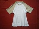 CARRY 36/S Bluzka Koszulka Biało - Beżowa Jak Nowa