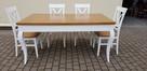 Stół glamour biały/dąb 160x90/250 rozkładany nowy PRODUCENT - 1
