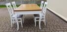 Zestaw prowansalski-stół rozkładany 140x90/210+4 krzesła - 2