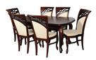 OKAZJA ! Elegancki zestaw-stół 140x80/210 ludwik+ 6 krzeseł