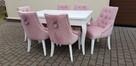 Wygodne nowoczesne krzesło tapicerowane z kołatką nowe - 3
