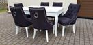 Wygodne nowoczesne krzesło tapicerowane z kołatką nowe - 4