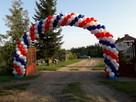Warszawa brama z balonów warszawa girlanda balonowa łuk hel