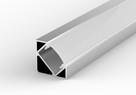 PROFIL LED Kątowy/Narożny Aluminiowy + KLOSZ 2mb - 3