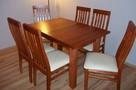 Stół 120/90 lub 80 roz. na 180 cm z drewna! i 6 Krzeseł - 1