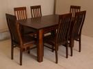 Stół z litego drewna 160 cm/90 rozkł. do 250cm i 8 krzeseł - 1