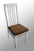 Stół z litego drewna 160 cm/90 rozkł. do 250cm i 8 krzeseł - 5