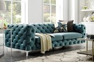 SOFA MODERN BAROCK 3 CHESTERFIELD DESIGN aqua 38716