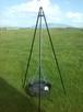 Grill trójnóg 215 cm regulowany z paleniskiem - 1