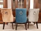 Krzesło z kołatką tapicerowane pikowane eleganckie modne