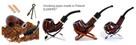 Fajka do palenia z gruszy tradycyjna drewniana od Elenpipe