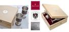 Zestaw komplet cynowych kielichów do wina ARTINA na prezent