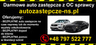 AUTO zastępcze za darmo z OC sprawcy Nowy Sącz