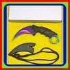 JB Noz Karambit Taktyczny Nóż(Tęczowy) Bojowy w Kabura
