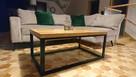 Stół Stolik Kawowy Kuchnia Jadalnia Krzesła Nogi Stalowe - 1