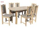 Stół |Aspen| i 6 krzeseł |Peggy| - 1