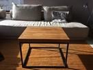 Industrialny stelaż stolika kawowego loft