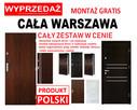 POLSKIE drzwi zewnętrzne wejściowe z montażem-drewniane-