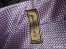 Krawat jasnoróżowy Luois Gianni Paris * krawat w kratkę róż - 11